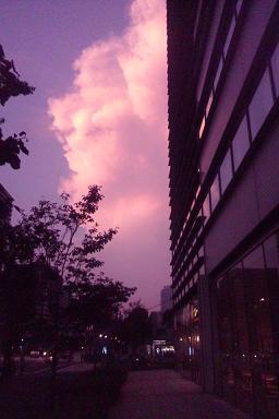 ピンク? 紫? の夕焼け