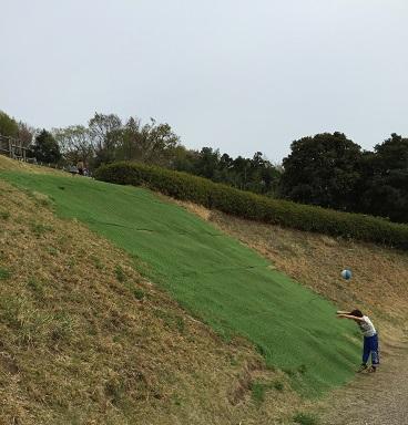 中井中央公園:芝生すべり(?)の場所