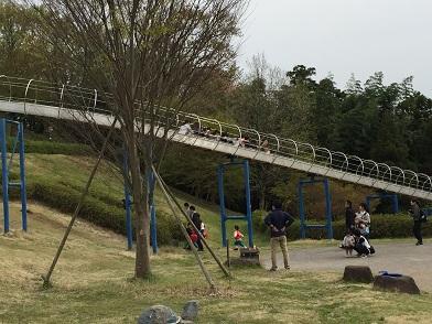 中井中央公園:連なって滑る子たち