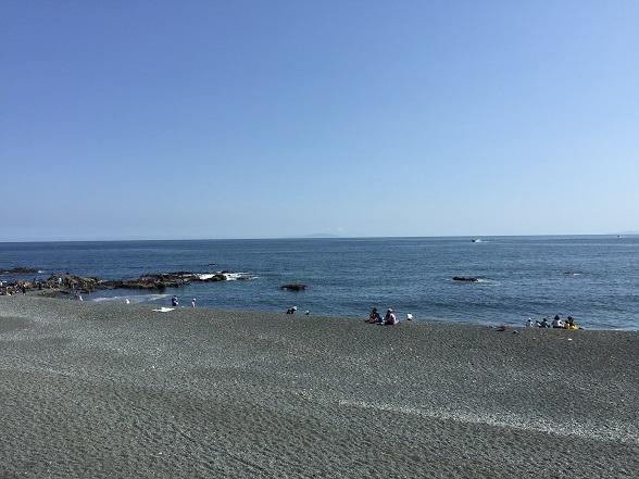 大島が見える