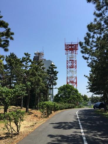 第二駐車場から見えるタワー
