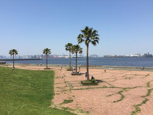 東岸からのぞむ東京湾
