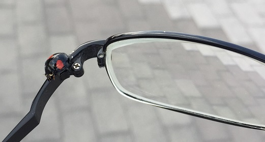 メガネにてんとう虫
