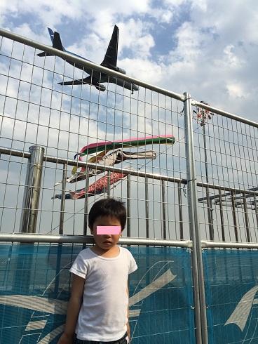 太郎と鯉のぼりと飛行機