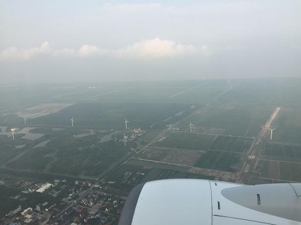 空からの上海
