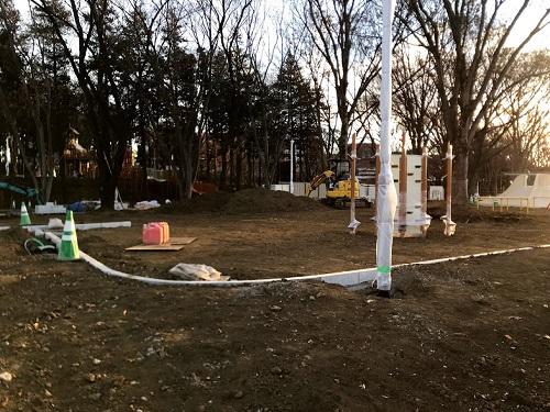 工事中の鶴間公園の様子2