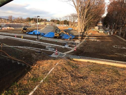 工事中の鶴間公園の様子1
