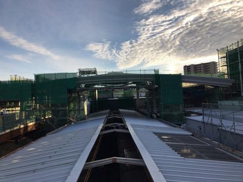 南町田駅を上から望む