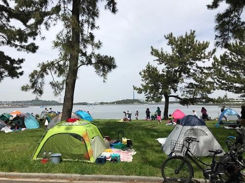 野島公園の海岸