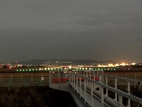 伊丹空港の滑走路